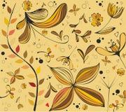 modelos florales del otoño stock de ilustración