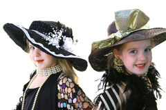 Modelos gêmeos no branco Fotos de Stock Royalty Free