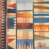 Modelos geométricos abstractos en la madera Foto de archivo libre de regalías