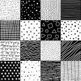 Modelos geométricos exhaustos de la mano, papeles digitales abstractos, fondos abstractos ilustración del vector