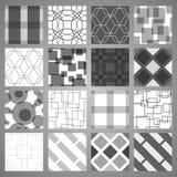 Modelos geométricos fijados Fotografía de archivo
