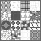 Modelos geométricos fijados Imágenes de archivo libres de regalías