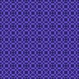 Modelos geométricos inconsútiles azules en modelos cuadrados en fondo azul profundo libre illustration