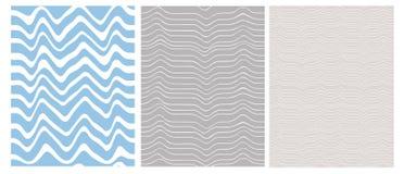 Modelos geométricos irregulares simples del vector Ondas abstractas blancas aisladas en Gray Background azul y ligero ilustración del vector