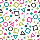 Modelos geométricos primitivos inconsútiles para el tejido y las postales libre illustration