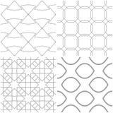 Modelos geométricos Sistema de fondos inconsútiles grises claros y blancos Fotografía de archivo
