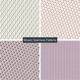 Modelos inconsútiles coloridos del mosaico Fotografía de archivo libre de regalías