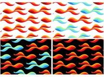 Modelos inconsútiles con los pescados de oro Foto de archivo libre de regalías