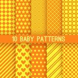 Modelos inconsútiles de diverso vector del bebé Naranja Imagen de archivo libre de regalías