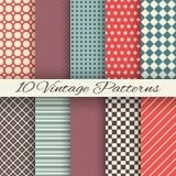 Modelos inconsútiles de diverso vector del vintage Imagen de archivo libre de regalías