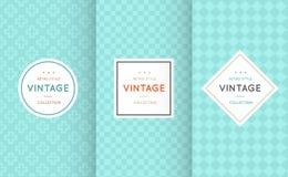 Modelos inconsútiles de diverso vector del vintage stock de ilustración