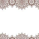 Modelos inconsútiles 4 de Henna Borders Vector Abstract Floral Fotografía de archivo