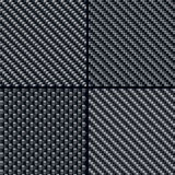Modelos inconsútiles de la fibra del carbón fijados Imagenes de archivo
