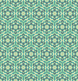 Modelos inconsútiles de la flor verde Imagen de archivo libre de regalías