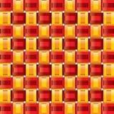 Modelos inconsútiles de la guinga del amarillo del rojo anaranjado Fotos de archivo libres de regalías
