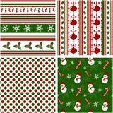 Modelos inconsútiles de la Navidad. Ejemplo del vector. Imágenes de archivo libres de regalías