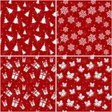 Modelos inconsútiles de la Navidad. Ejemplo del vector. Foto de archivo libre de regalías