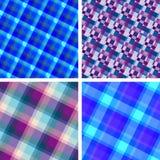 Modelos inconsútiles de la tela escocesa Fotos de archivo libres de regalías