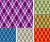 Modelos inconsútiles de la tela escocesa Imagen de archivo libre de regalías