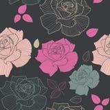 Modelos inconsútiles de las rosas Imagen de archivo