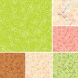 Modelos inconsútiles del color con la flora Imagen de archivo
