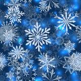 Modelos inconsútiles del copo de nieve stock de ilustración