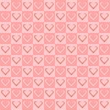 Modelos inconsútiles del corazón para el día del ` s de la tarjeta del día de San Valentín Imagen de archivo