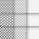 Modelos inconsútiles del enrejado tradicional del quatrefoil Fotografía de archivo