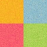 Modelos inconsútiles del espiral del lazo en color múltiple Foto de archivo libre de regalías