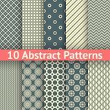 Modelos inconsútiles del vector abstracto del vintage (embaldosado) Imagen de archivo