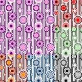 Modelos inconsútiles del vector del ornamento floral Fotografía de archivo libre de regalías