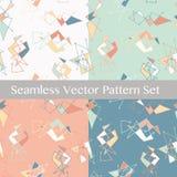 Modelos inconsútiles del vector Fondo lindo y colorido Imagen de archivo