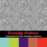 Modelos inconsútiles del vector geométrico de moda de los colores Imagen de archivo