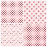 Modelos inconsútiles en colores rosados Imágenes de archivo libres de regalías