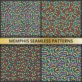 Modelos inconsútiles en el estilo de Memphis stock de ilustración