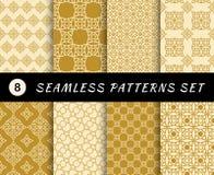 Modelos inconsútiles fijados Texturas geométricas Imagen de archivo libre de regalías
