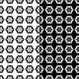 Modelos inconsútiles florales blancos y negros Sistema de fondos Foto de archivo