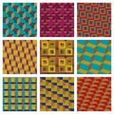 Modelos inconsútiles geométricos Fotografía de archivo