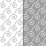Modelos inconsútiles geométricos grises y blancos Imágenes de archivo libres de regalías