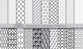 Modelos inconsútiles geométricos , muestras incluidas para el usuario del ilustrador, muestras del modelo del modelo incluidas en stock de ilustración