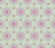 Modelos inconsútiles rosados de la flor y de la hiedra Fotos de archivo libres de regalías