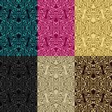 Modelos inconsútiles - sistema de seis colores Fotos de archivo