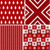 Modelos inconsútiles, textura de la tela de la Navidad Imagenes de archivo