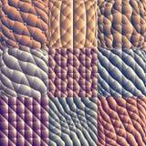 Modelos inconsútiles de la tapicería de cuero Imágenes de archivo libres de regalías
