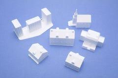 Modelos miniatura del edificio Fotografía de archivo libre de regalías