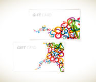 Modelos modernos de la tarjeta del regalo Fotos de archivo libres de regalías