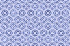 Modelos monocromáticos bordados de flores y de hojas azules en fondo azulado stock de ilustración