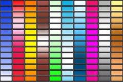 Modelos multicolores. Fotos de archivo libres de regalías