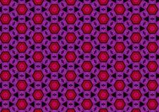 Modelos púrpuras rojos negros Stock de ilustración