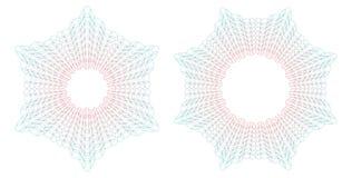Modelos redondos del guilloquis Ilustración del vector Imagen de archivo libre de regalías